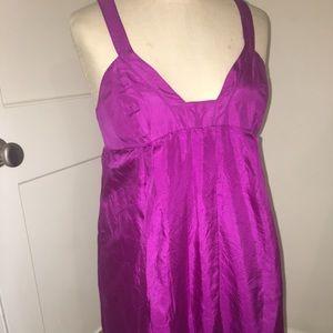 Purple silky mini dress!